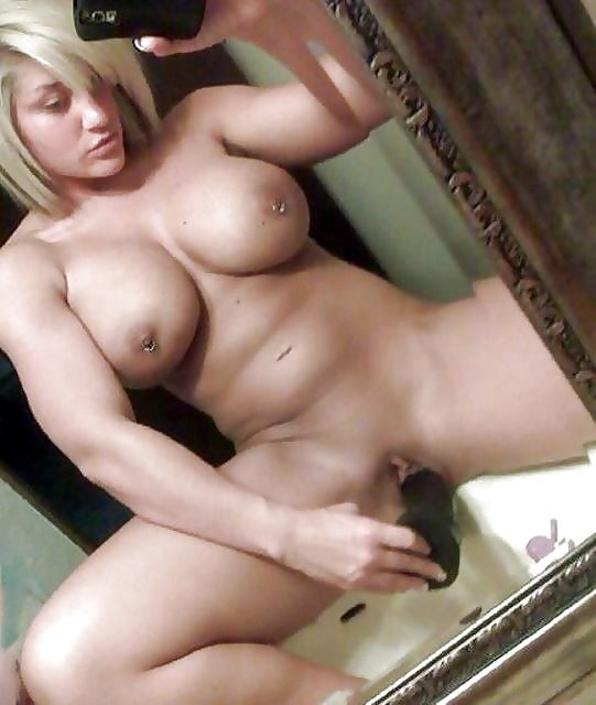 Fit Blonde With Bolt On Tits