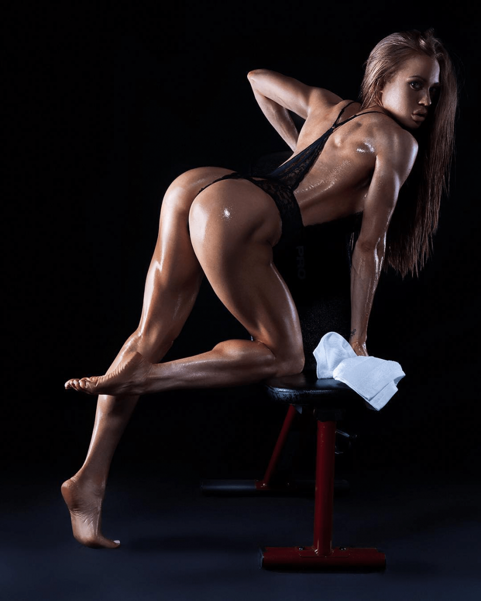 Nude topless fitness girls