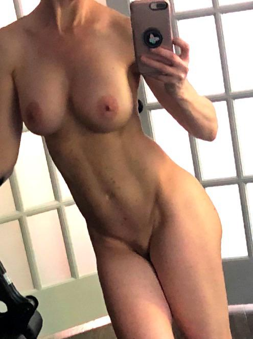Working Out Naked In My Gym. Two Walls Are Pure Glass. I Wonder If Any Cubs Will Notice 😈😈😈!!