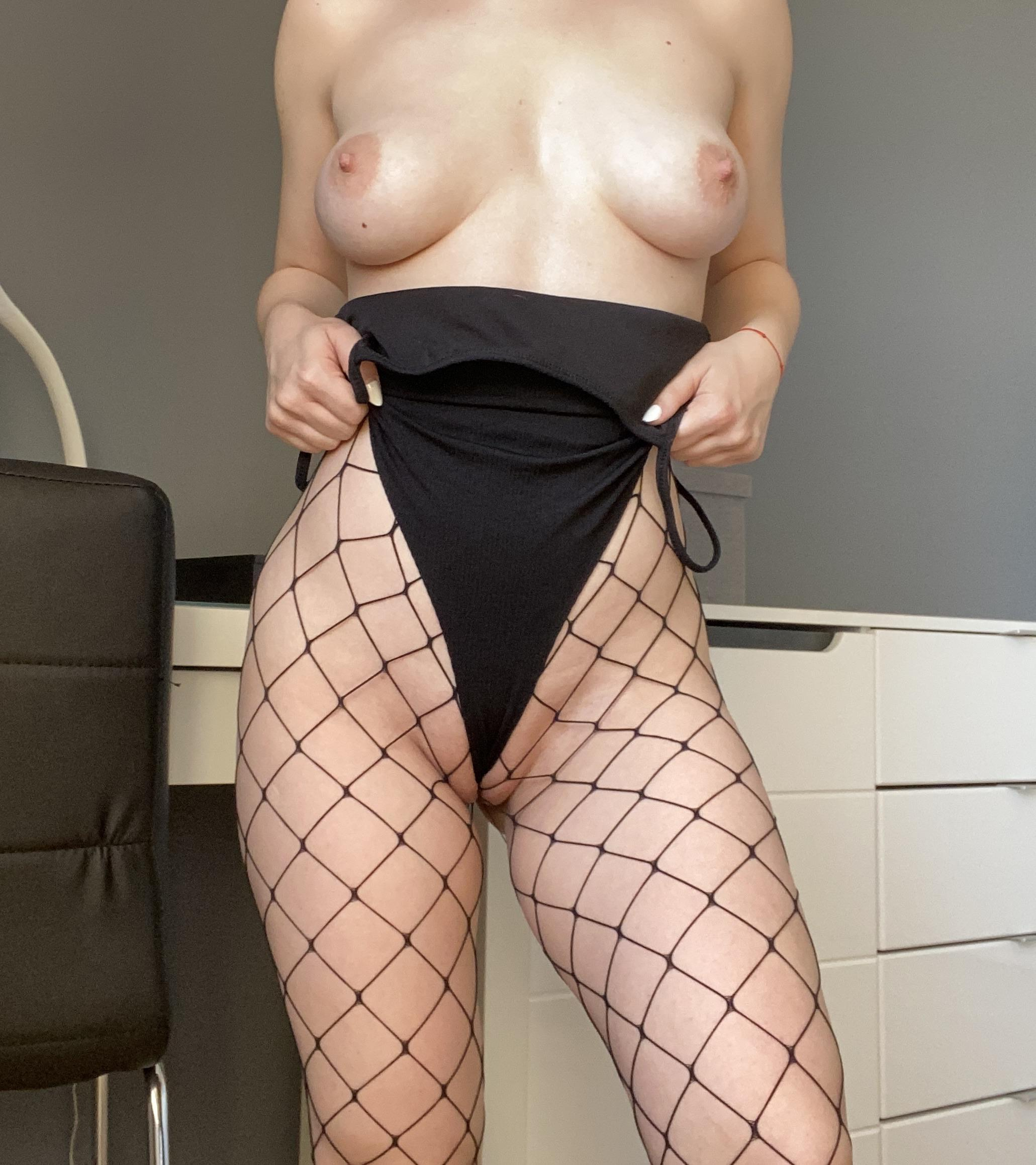 Would You Like To Fuck Me Through The Holes Of My Tights?