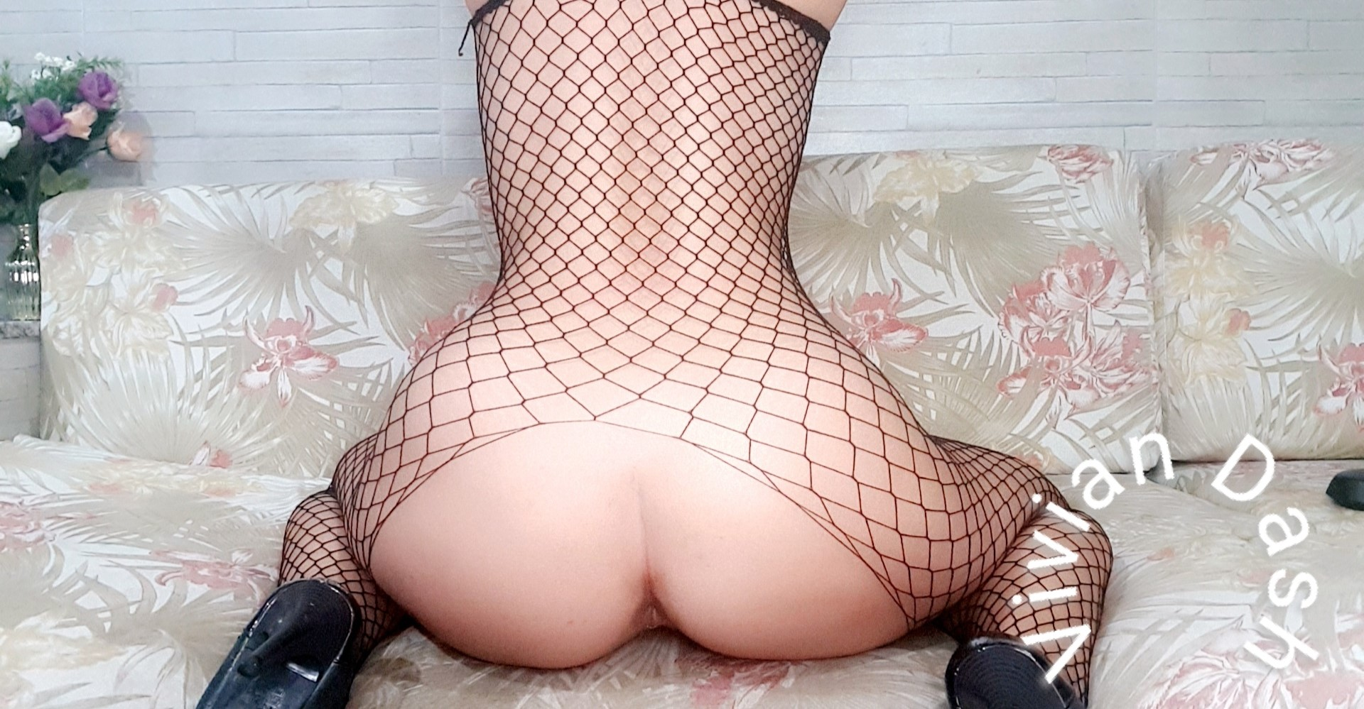 It's So Convenient That This Fishnet Suit Has A Hole For My ASS.
