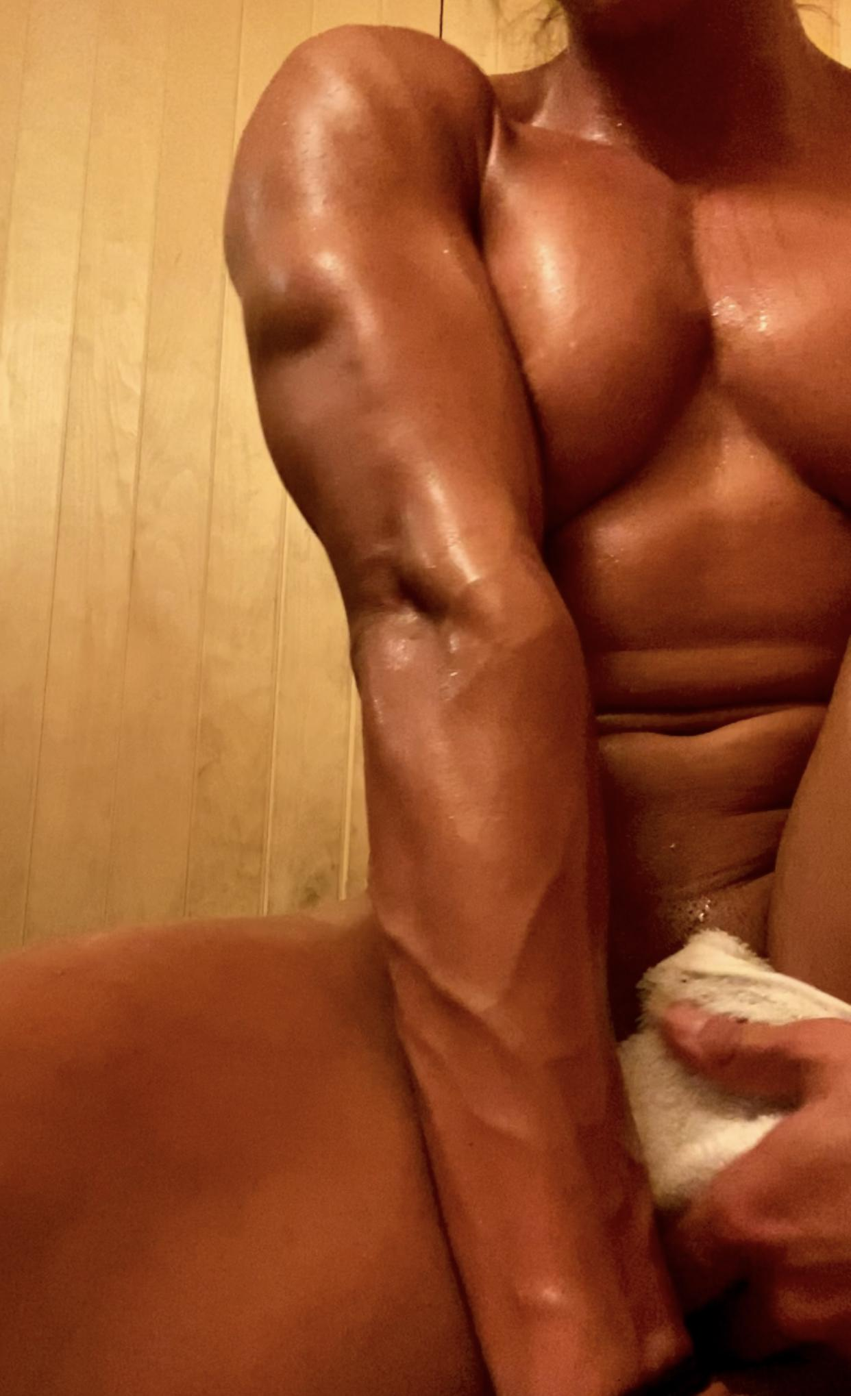 I Just Couldn't Stop Myself, I Was So Horny I Had To Rub My Phat Clit In The Sauna