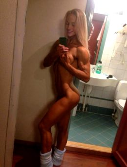 Fit Blonde Takes A Nude Selfie!!!