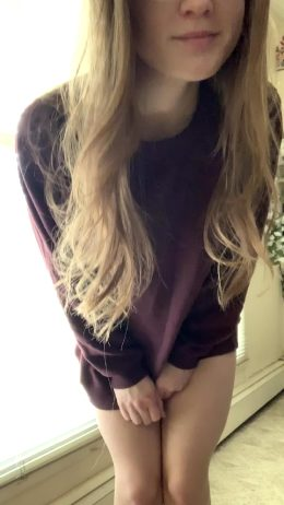 Fit Girl In Nothing But An Oversized Sweater