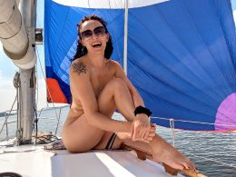 Here I'm Celebrating The 4th Of July On A Yacht ^^ Naked, Of Course ; ) !