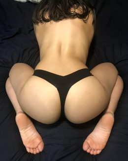 Just A Black Thong On ??
