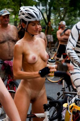Naked Bicyclist Is In Great Shape