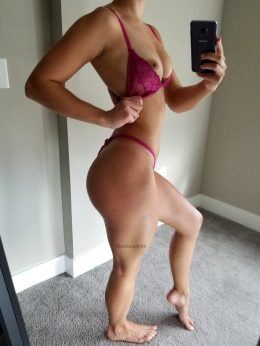 What Do You Stare At First, My Quads Or My Tits?