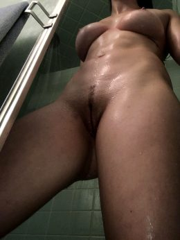 A Great Angle O A Post Workout Shower