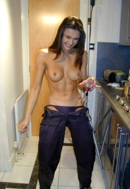 Abs And Wine. She Looks Fun.