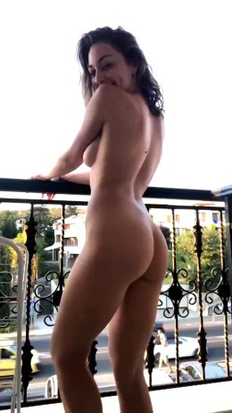 Anastasia Naked On Balcony