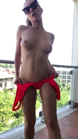 Naked On The Balcony #2