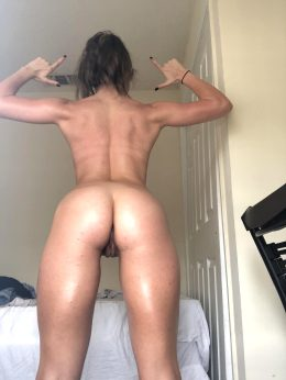 Toned Back & Peach Butt